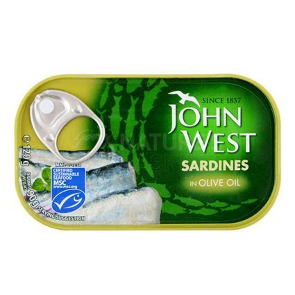 JOHN WEST SARDINES IN OLIVE OIL 120GM