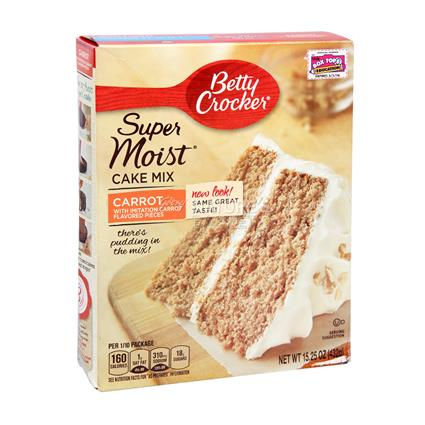 Super Moist Cakemix Carrot Flavoured - Betty Crocker
