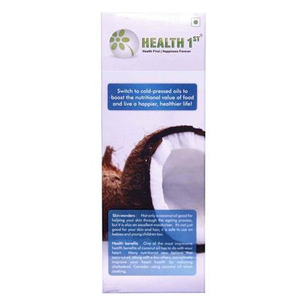 Cold Pressed Coconut Oil  -  0% Trans Fats - Health 1St