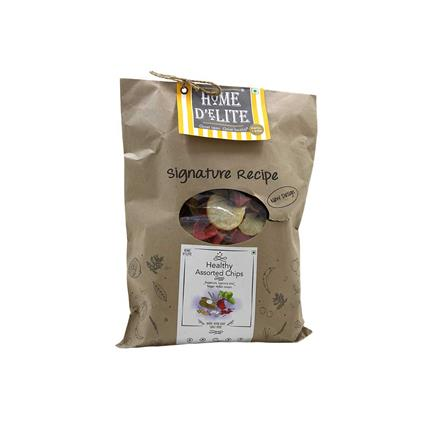 HOME DELITE HEALTHY ASSORTED CHIPS 220G