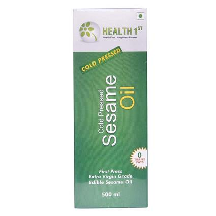 Cold Pressed Sesame Oil  -  0% Trans Fats - Health 1St