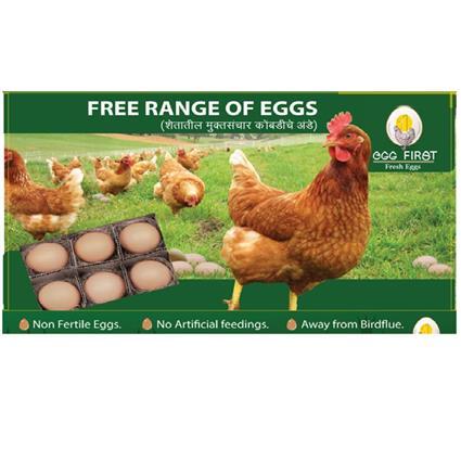 EGG FIRST FREE RANGE PACK OF 6