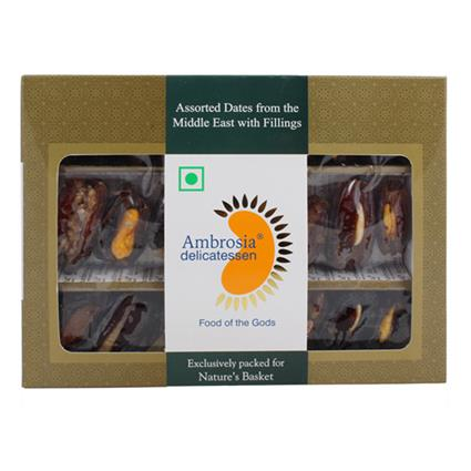Ambrosia Assrtd Dates With Fillings 250G