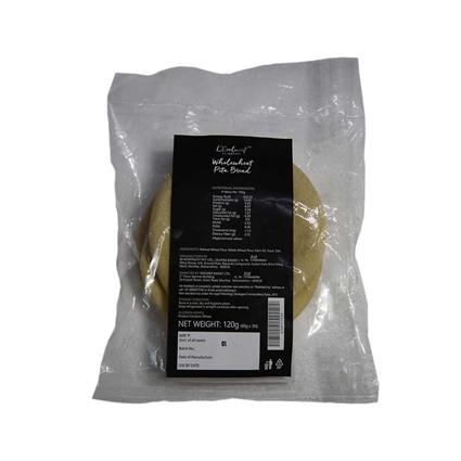 L EXCLUSIF WH WHEAT PITA BREAD 3NOS 120G