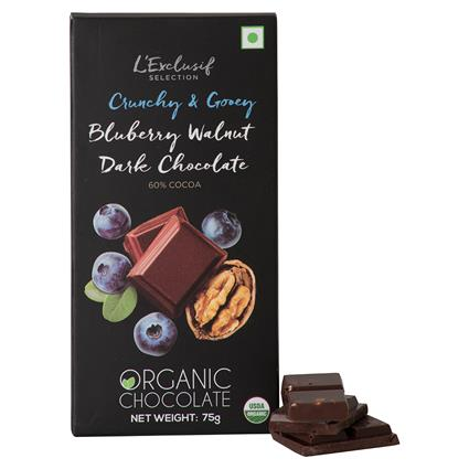 LE ORG CHO BAR BLUEBERRY WALNUT 75G