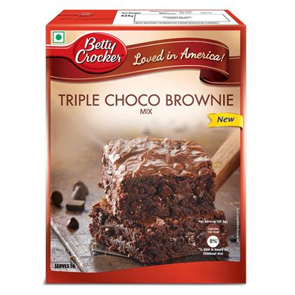 BETTY CROCKER TRPL CHOC BROWNIE MIX 425G