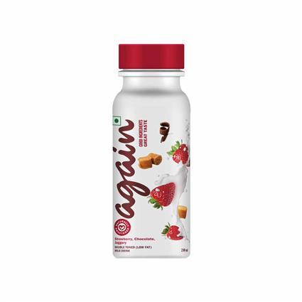 Strawberry Choco And Jagrry Yoghurt -Again-200 Ml - Again