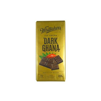 WHITTAKERS 72% COCOA DRK GHANA CHOC 200G