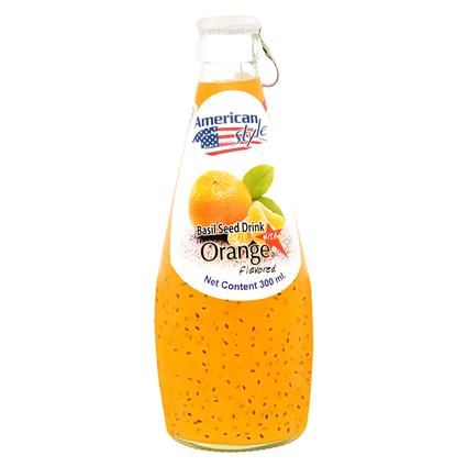 Orange Flavored Basil Seed Drink - American Style