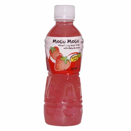 Strawberry Juice Drink W/ Nata De Coco - Mogu Mogu