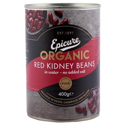 EPICURE RED KIDNEY BEANS IN WATER 400G