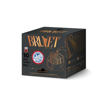 BRUVET FRENCH BLEND COFFEE BAGS 150G
