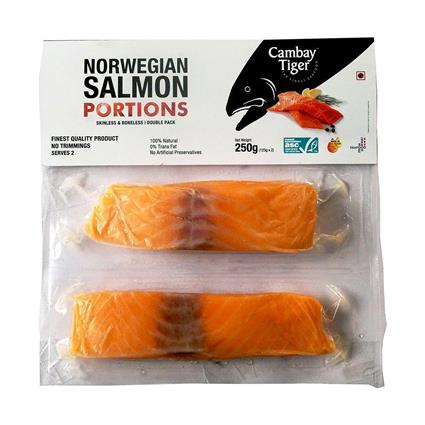 Cambay Tiger Norwegian Salmon Double Chunk skin off - 250gms