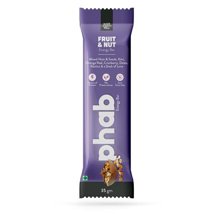 Phab Energy Bar Fruit N Nut 37 Gm