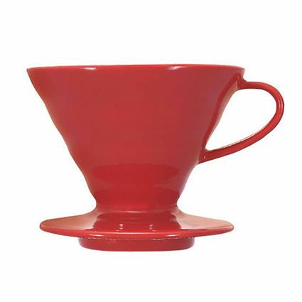 TCW PLASTIC COFFEE RED POUROVER 4CUPS1PC