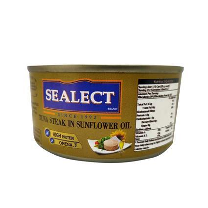 SEALECT TUNA STEAK IN SUNFLOWER OIL 185G