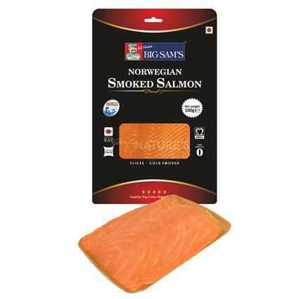 BIG SAMS SMOKED SALMON SLICE 100G