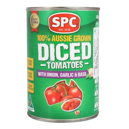 SPC DICED TOM ONION GARLIC BASIL 400G