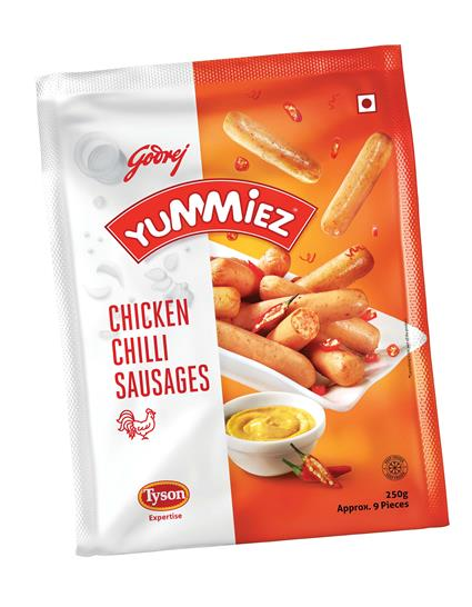 Chicken Sausages  -  Chilli - Yummiez