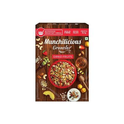 MUNCHILICIOUS GRANOLA DRIED FRUITS 500G