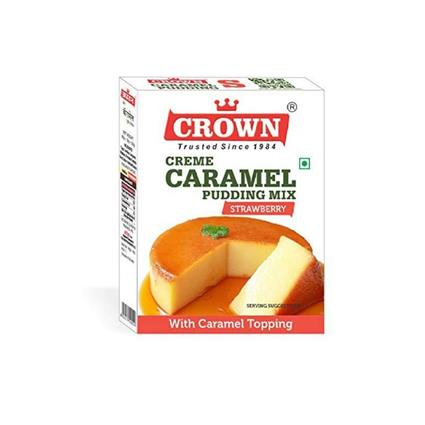 CROWN CARAMEL PUDDING STRAWBERRY 100G