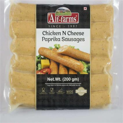 ALF FARMS CHKN CHEES PAPRIKA SAUSG 200 G