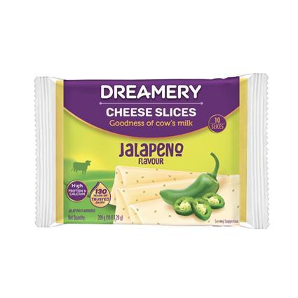 DREAMERY CHEESE SLICE JALAPENO 200GM /P