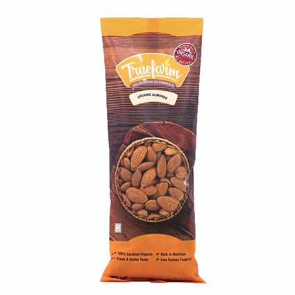 TRUEFARM ORGANIC ALMONDS 250 GM