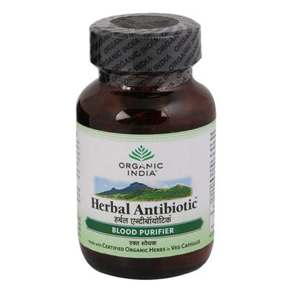 Herbal Antibiotic Capsules  -  Blood Purifier - Organic India