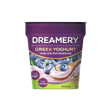DREAMERY YOGHURT BLUEBERRY GREEK CUP 90G /P