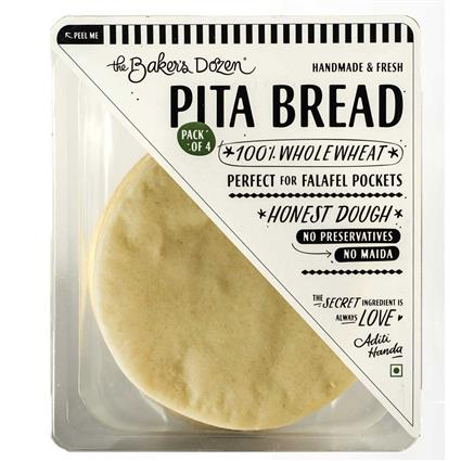 PITA BREAD (PACK OF 4) 100% WHOLEWHEAT