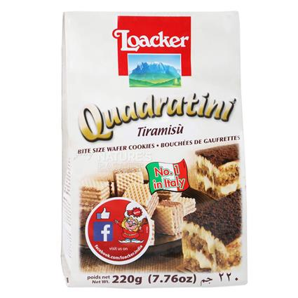 Quadratini Tiramisu Cream Wafer - Loacker