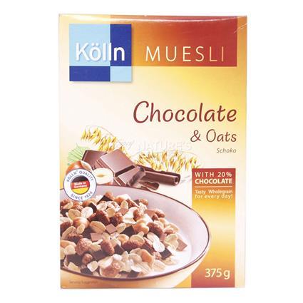 KOLLN MUESLI CHOCOLATE&OATS 375G