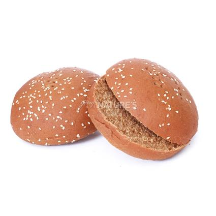 Whole Wheat Burger Buns - 2Pcs - L'exclusif
