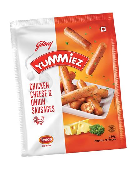 Cheese & Onion Chicken Sausages - Yummiez