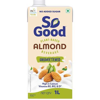 So Good Almond Milk Unsweetened 1000 ml