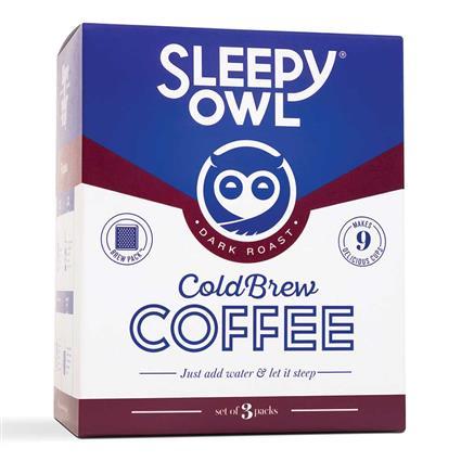 SLEEPY OWL DARK ROAST BREWPACKS SET OF 3