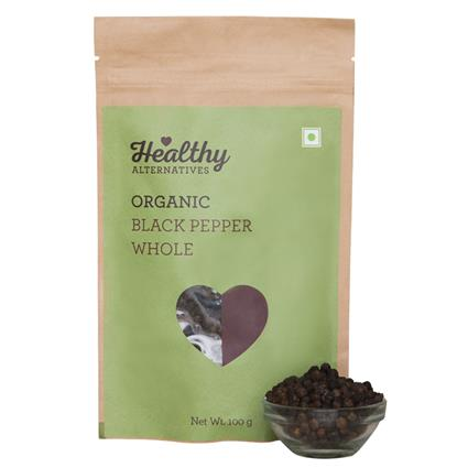 Organic Black Pepper Whole - Healthy Alternatives