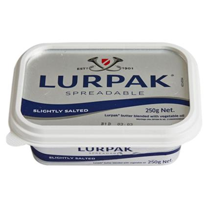 BUTTER SPREADABLE SALTED 250G