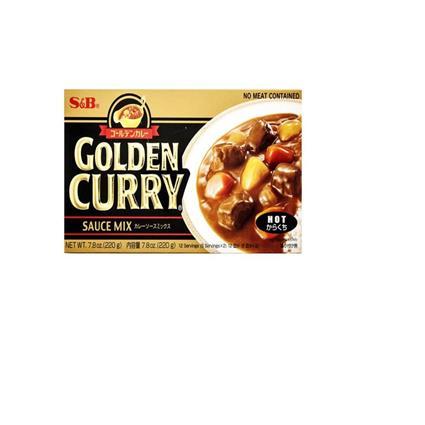 S&B Golden Curry Sauce Mix Medm Hot 220G
