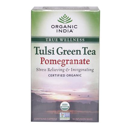 Tulsi Pomegranate Green Tea - 18TB - Organic India