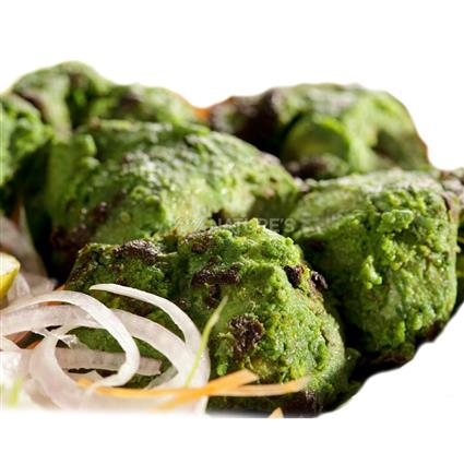 Marinated Hariyali Chicken Tikka Kebab