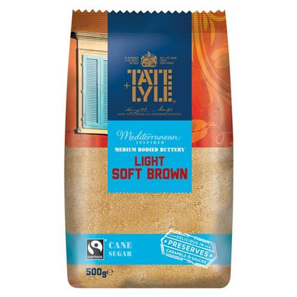 TATE LYLE LIGHT BROWN SOFT SUGAR 500G