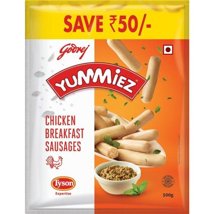 Yummiez Chicken Breakfast Sausages&Nbsp;500Gm - YUMMIEZ