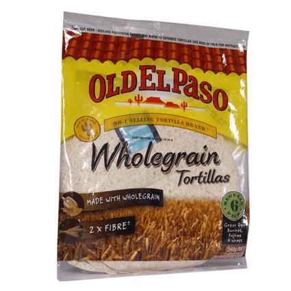 OLD EL PASO 6 TORTILLA Wholewheat 350G