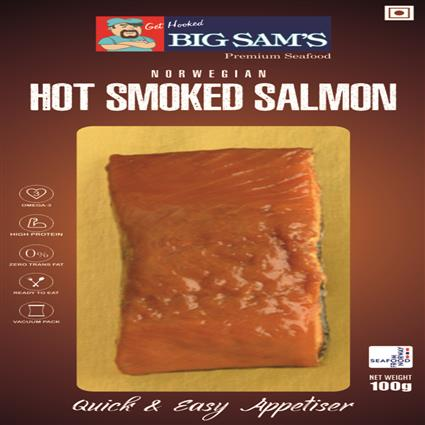 BIG SAMS FRESH CHILED HTSMOKE SLMON100GM