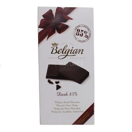 BELGIUM BARS 85% DARK CHOCOLATE 100G