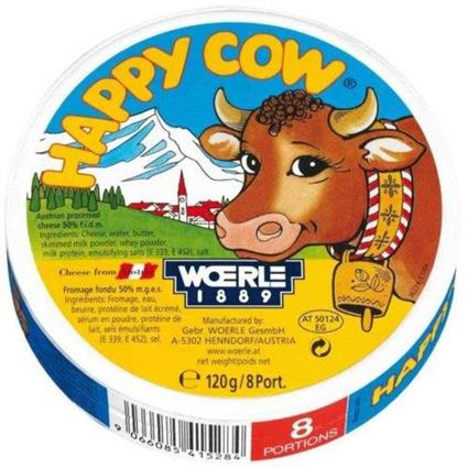 HAPPY COW PROCESSED CHEESE 120GM