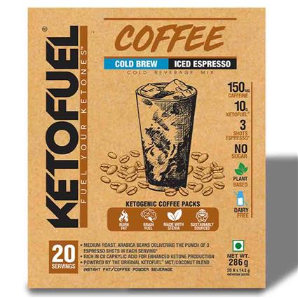 KETOFUEL COFFEE COLD BREW 20 PACKS