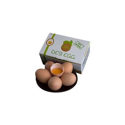 DESI EGGS (BROWN FREE RANGE EGGS & DHA ) PK 6